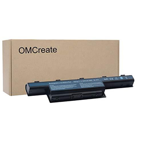 OMCreate Battery Compatible with Acer Aspire 5742 5750 7741Z 5552 4741 7551 5733 5750G 5336 5742Z 4750 5253 5250 5736Z 5741 5733Z - [Li-ion 6-Cell]