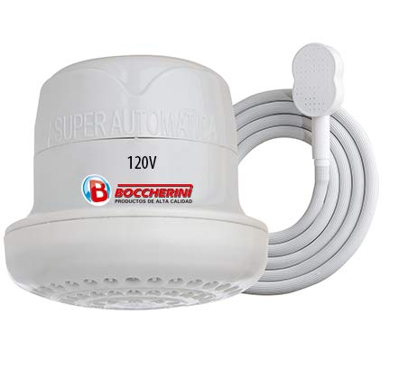 BOCCHERINI Automatic Electric Instant Hot Water Heater Shower Head 110V / 120V + FREE wall support/tube Included.