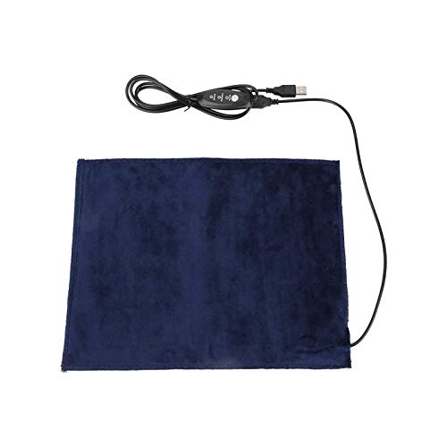 USB Heating Pad,5V 2A USB Electric Heater Pad Heating Element for Neck Shoulder Clothes Seat Pet Warmer, 24x30cm 30-45℃