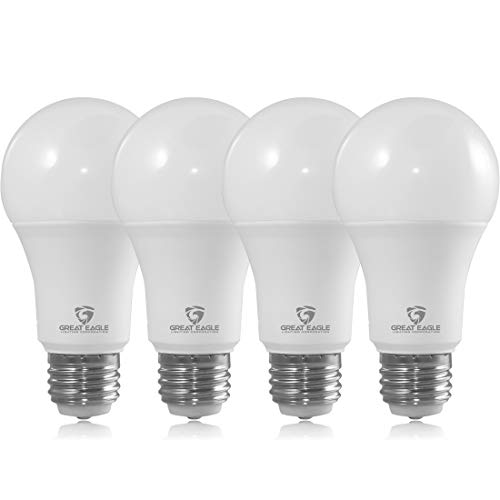 Great Eagle 40/60/100W Equivalent 3-Way A19 LED Light Bulb 3000K Soft White Color (4-Pack)