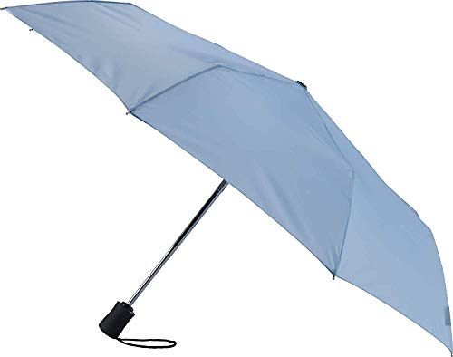 Lewis N. Clark Travel Umbrella: Windproof & Water Repellent with Mildew Resistant Fabric, Automatic Open Close & 1 Year Warranty. - Blue