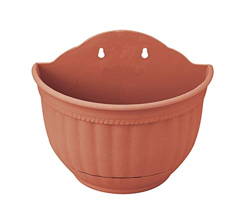 Wall Flowers Plant Planter Pot Hanging A Type Indoor or Outdoor Container Gardening(Brick red)