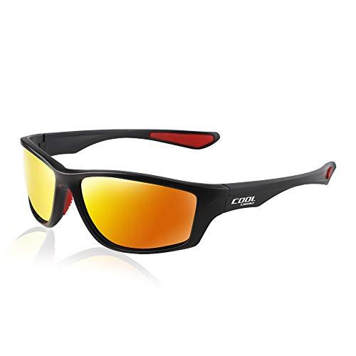 CoolChange Polarized Sports Sunglasses TR90 Unbreakable Frame Sport Driving Fishing Bike Glasses for Men Women