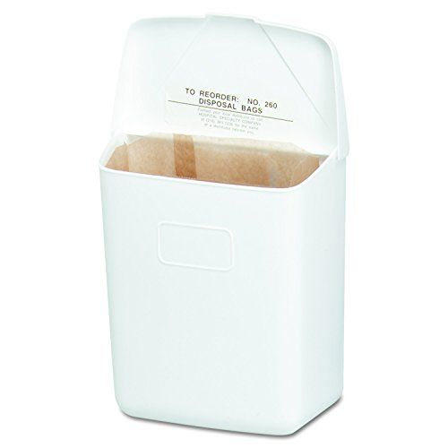 Hospeco Feminine Hygiene Receptacle, White ABS Plastic, 250-201W