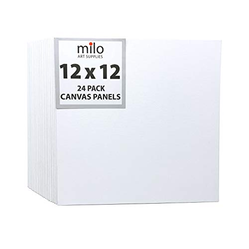 milo Canvas Panel Boards for Painting | 12x12 inches | Pack of 24