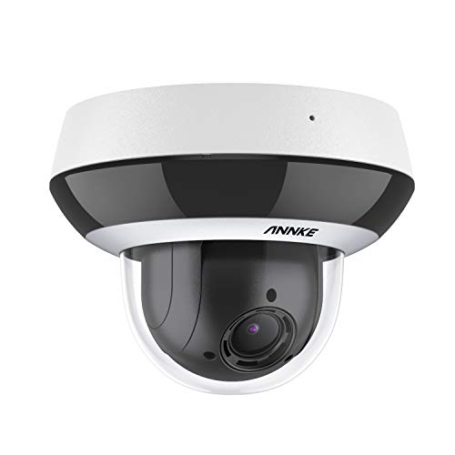 ANNKE CZ400 4MP PoE IP Audio Security Camera Compatible with Hikvision, PTZ CCTV Dome Cam with AI Human, 4X Optical Zoom, H.265+ Color Night Vision, Pan & Tilt, Auto Focus