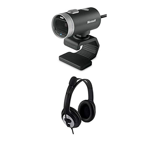 Microsoft LifeCam Cinema 720p Web Camera LifeChat LX-3000 Stereo Headset