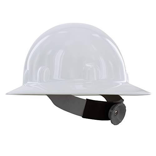 Fibre-Metal by Honeywell E1RW Supereight Thermoplastic Full Brim Hard Hat with 8 Pt. Ratchet Suspension, White
