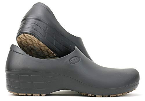Comfortable Work Shoes for Women - Nursing - Chef - Waterproof Non-Slip - StickyPRO Shoes (8, Black)