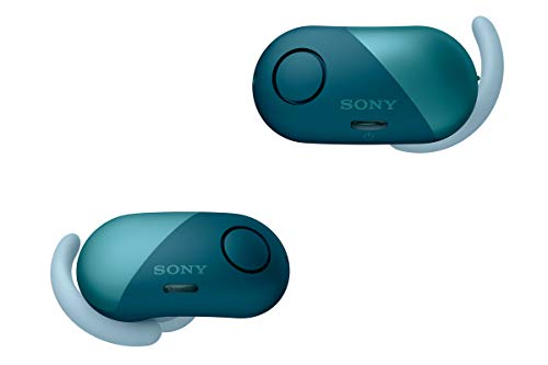 Sony Wireless Bluetooth in Ear Headphones: Noise Cancelling Sports Workout Ear Buds for Exercise and Running - Cordless, Sweatproof Sport Earphones, Built-in Microphone, Extra BASS – Blue WF-SP700N/L