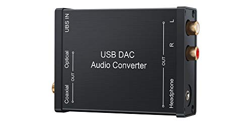 Premium USB DAC External Sound Card Compatible with PC Mac Android PS4