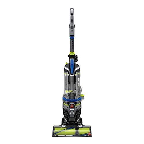 BISSELL Pet Hair Eraser Turbo Rewind Upright Vacuum Cleaner, 27909, Blue