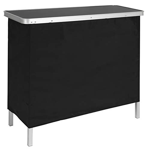 Best Choice Products Portable Pop-Up Bar Table w/Carrying Case, Removable Skirt
