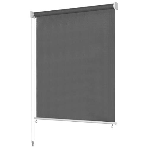 Unfade Memory Outdoor Roller Blind Exterior Roller Shade, Patio Blinds Roll Up Shade, Anthracite (70.8'x90.5')