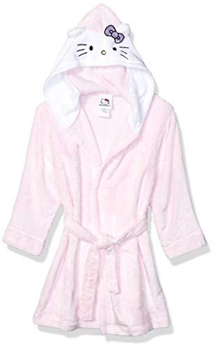 Hello Kitty Girls' Big Velvet Fleece Hooded Robe, S