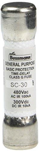 Bussmann SC-30 Cartridge Low Voltage Time Delay Fuse, 480 Vac/300 Vdc, 30 Amp