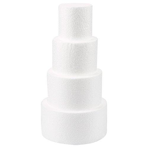 Cake Foam Dummies, 3-6 Inch Cake Dummy (12 Inches, 4 Pieces)