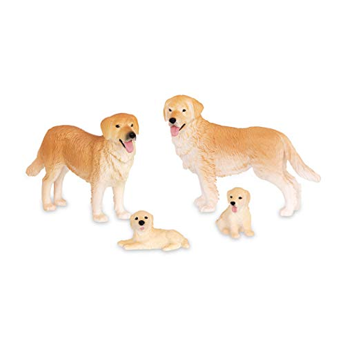 Terra by Battat – Dog Family - Animal Toys for Kids 3-Years-Old & Up (4 Pc)