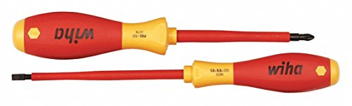 Wiha 32105 Insulated 5.5mm Slotted + #2 Phillips Screwdriver Set