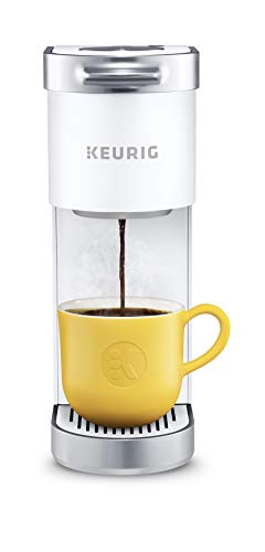 Keurig K-Mini Plus Coffee Maker, Single Serve K-Cup Pod Coffee Brewer, Comes With 6 to 12 oz. Brew Size, K-Cup Pod Storage, and Travel Mug Friendly, White