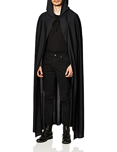 Rubie's mens Full Length Hooded Cape Party Supplies, Black, One Size US