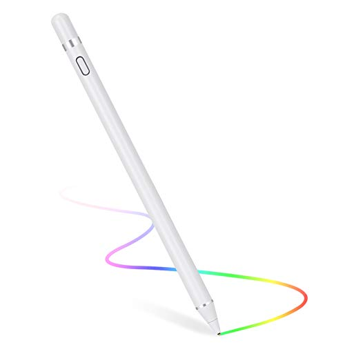Stylus Pen for Touch Screens, Digital Pen Active Pencil Fine Point Compatible with iPhone iPad and Other Tablets (White)