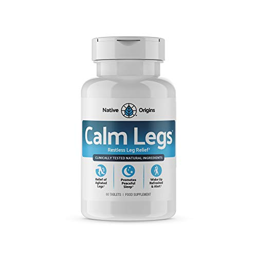 Calm Legs - Natural Sleep Aid for Natural Itching, Crawling, Tingling and Leg Jerk Relief with Iron, Magnesium, and Valerian Root (60 Tablets) (30 Day Supply)