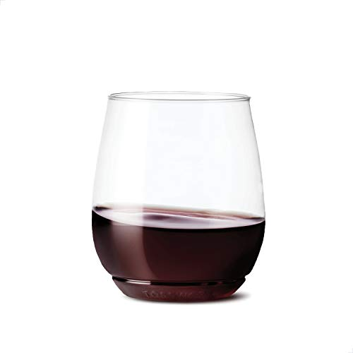TOSSWARE POP 14oz Vino SET OF 12, Recyclable, Unbreakable & Crystal Clear Plastic Wine Glasses