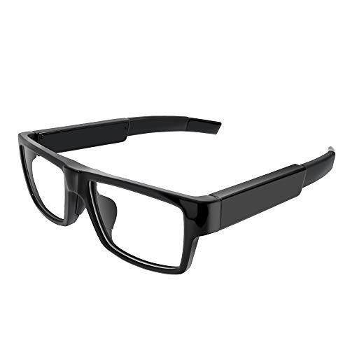 FUPOM Video Record Camera Glasses, 1080P Surveillance Glasses Camera, a Wearable and Portable 16G Video Recorder with Wide Angle for Daily Life/ Training/ Outdoor Sports or Meeting Record (No Remote)