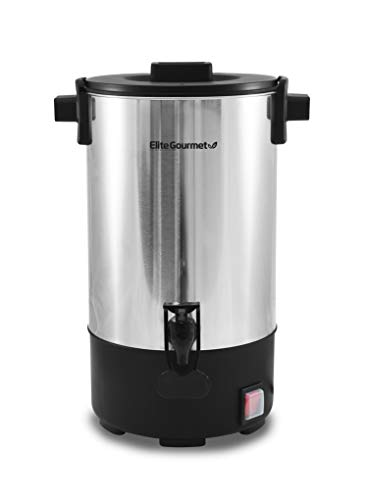 Maxi-Matic Elite Gourmet 30 Cup Removable Filter For Easy Cleanup, Two Way Dispenser with Cool-Touch Handles Electric Coffee Maker Urn, Stainless Steel, Non-FFP, CCM-035