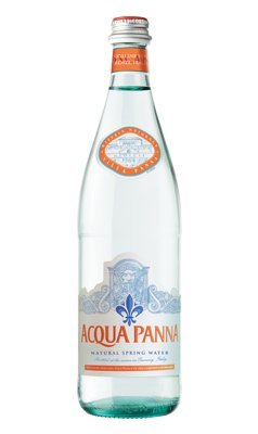 Acqua Panna Still Natural Spring Water in a Glass Bottle of 750ml/25.36 Fl.oz -Case of 15