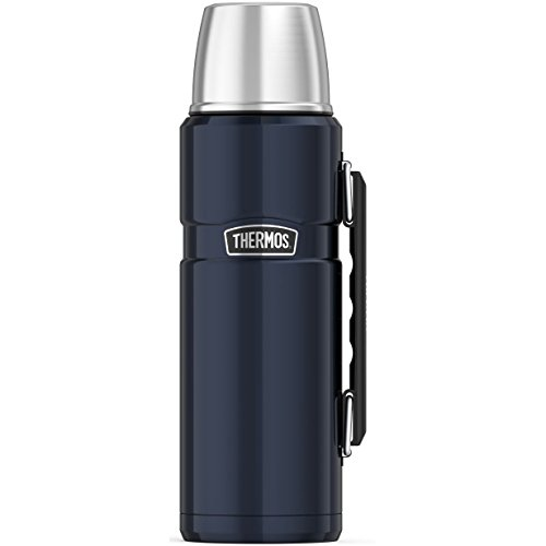 THERMOS Stainless King Vacuum-Insulated Beverage Bottle, 40 Ounce, Midnight Blue