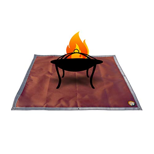 Ember Mat   67' x 60'   Fire Pit Mat   Grill Mat   Protect Your Deck, Patio, Lawn or Campsite from Popping Embers