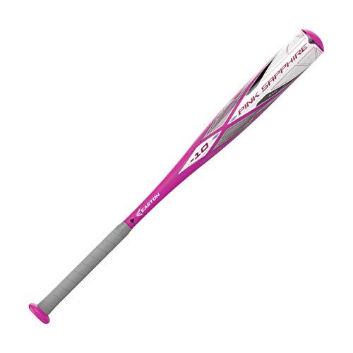 EASTON PINK SAPPHIRE -10 Girls / Youth Fastpitch Softball Bat   2020   1 Piece Aluminum   ALX50 Military Grade Aluminum   Ultra Thin Handle   Comfort Grip   Approved All Fields, 30'/20 oz