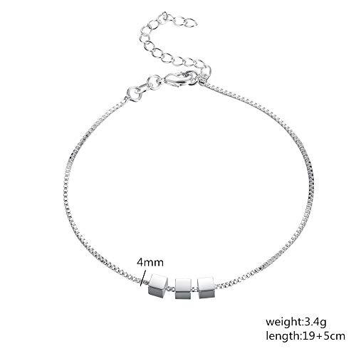 CAODAN Charm Beaded Chain Beautiful Bracelet Silver Fashion Women Wedding Beautiful Bracelet jewelry-LH030