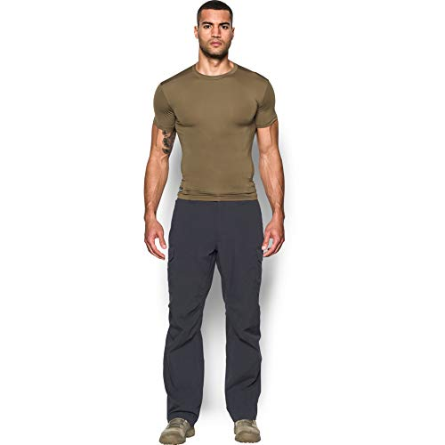 Under Armour Men's HeatGear Tactical Compression Short Sleeve T-Shirt , Marine Od Green (390)/Clear , Large