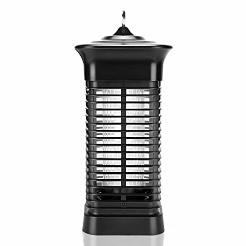 Bug Zapper, 4000V High Powered Electric Mosquito Zapper, Fly Trap for Indoor and Outdoor, Waterproof Mosquito Killer with 15W Mosquito Light Bulb for Home, Bedroom, Kitchen, Office, Backyard, Patio