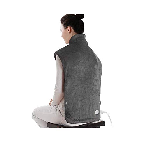 XXX-Large Electric Heating Pad for Neck and Shoulders, Heating Pad for Back Pain with Auto Off, 6 Temperature Settings, Fast Heating, 25' x 32', Dark Gray