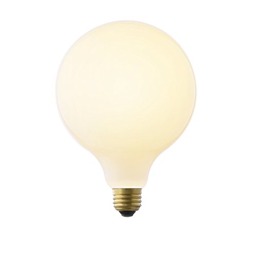 LED Frosted Globe Bulb, G40 Large Round Light, Fully Dimmable, 800 Lumens (E26) 8W, Damp Located, Indoor/Outdoor Use, UL Listed - Brooklyn Bulb Co. Carlton Design