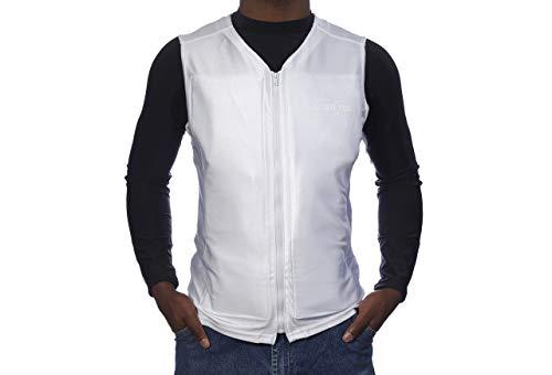 Glacier Tek Flex Vest Cool Vest with Nontoxic Cooling Packs White X-Large (Chest Size 42-44)