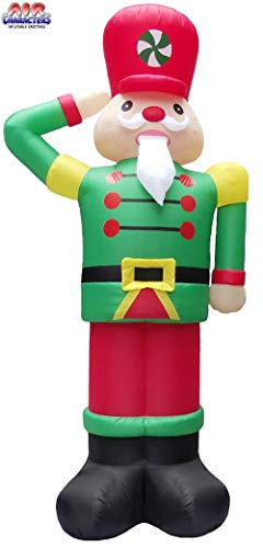 12' Air Blown Inflatable Nutcracker Soldier Saluting Christmas Yard Decoration GTC00029-12