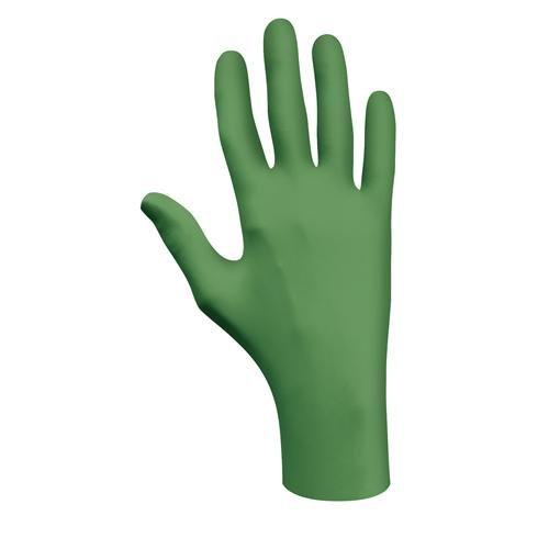 Best Glove 6110PFL SHOWA Biodegradable Nitrile Glove, Powder-Free, L Size, Green (Pack of 1000)
