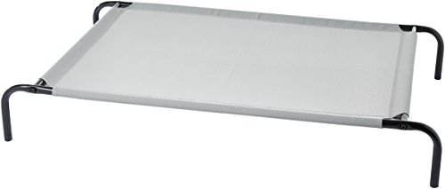 AmazonBasics Cooling Elevated Pet Bed, Large (51 x 31 x 8 Inches), Grey