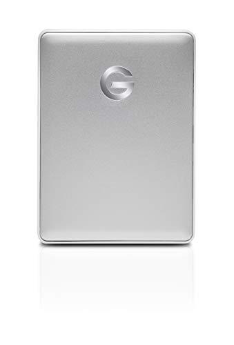 G-Technology 1TB G-DRIVE Mobile USB-C (USB 3.1 Gen 1) Portable External Hard Drive, Silver - 0G10264