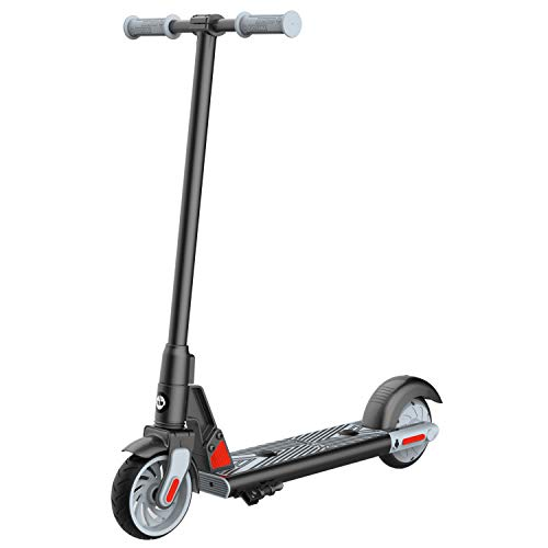 GOTRAX GKS Electric Scooter, Kick-Start Boost and Gravity Sensor Kids Electric Scooter, 6' Wheels UL Certificated E Scooter for Kids Age of 6-12 (Black)