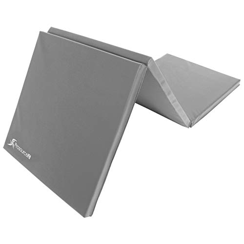 ProsourceFit Tri-Fold Folding Exercise Mat - Grey
