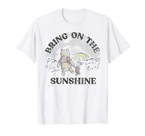 Disney Winnie The Pooh Piglet And Pooh Bring On The Sunshine T-Shirt