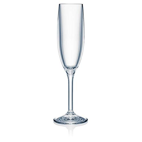 Strahl 40250 Design+Contemporary 5.5-oz Champagne Flute, Set of 4, Clear