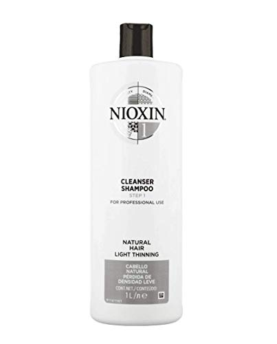 Nioxin System 1 Cleanser Shampoo for Natural Hair with Light Thinning, 33.8 oz