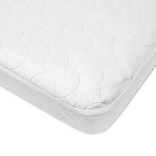 American Baby Company Waterproof Fitted Crib and Toddler Protective Mattress Pad Cover, White (Pack of 1), for Boys and Girls